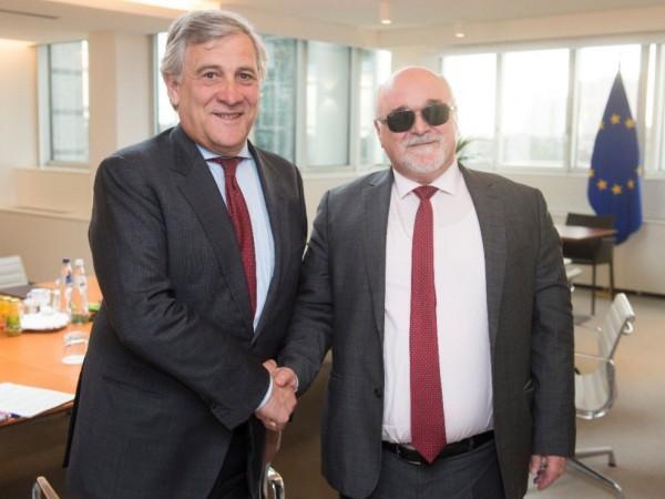 Με τον πρόεδρο του Ευρωπαϊκού Κοινοβουλίου Antonio Tajani